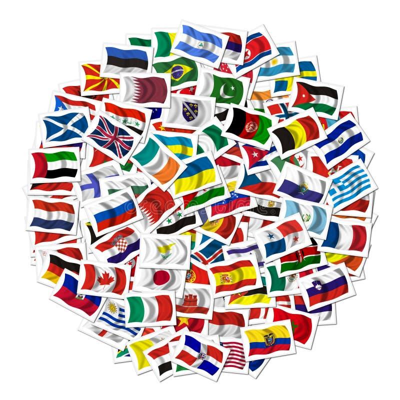 σημαίες συλλογής στοκ εικόνα