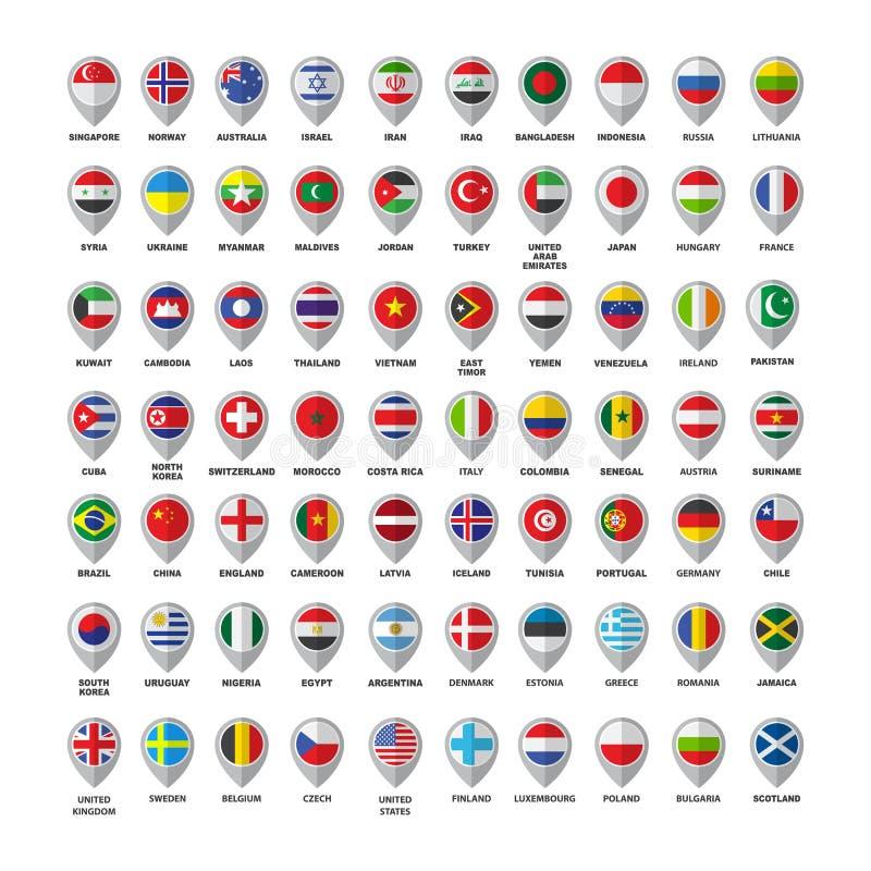 Σημαίες σύνολο-06 διανυσματική απεικόνιση
