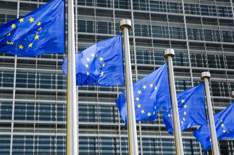 Σημαίες της ΕΕ στοκ φωτογραφίες