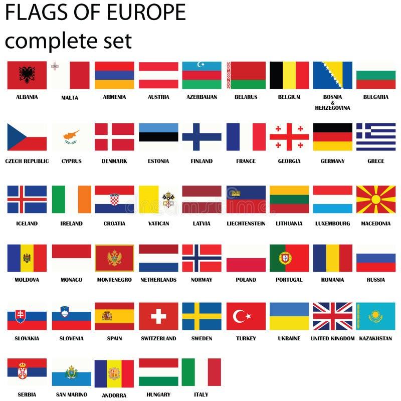 σημαίες της Ευρώπης διανυσματική απεικόνιση