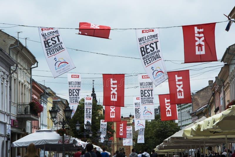 Σημαίες του φεστιβάλ μουσικής εξόδων στοκ εικόνες