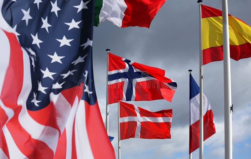 σημαίες στοκ εικόνα