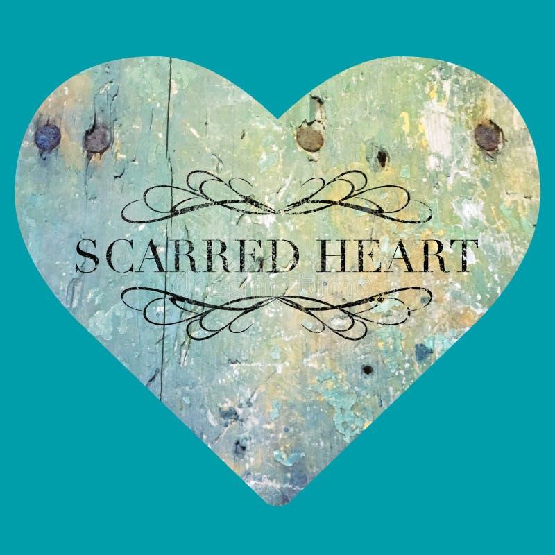 Σημαδεμένη καρδιά στοκ φωτογραφία με δικαίωμα ελεύθερης χρήσης