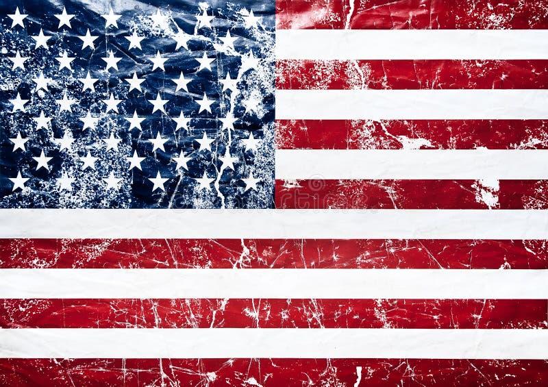σημαιών grunge κράτη που ενώνοντ&alph στοκ εικόνα με δικαίωμα ελεύθερης χρήσης