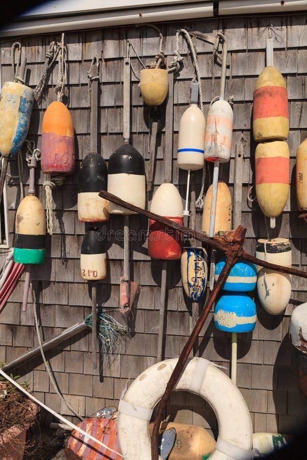 Σημαντήρες σε μια καλύβα αλιείας βακαλάων ακρωτηρίων στοκ εικόνες με δικαίωμα ελεύθερης χρήσης