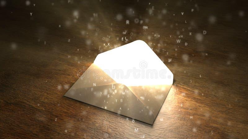 σημαντική επιστολή Μαγική επιστολή Ενδιαφέρον περιεχόμενο στην επιστολή 61 ελεύθερη απεικόνιση δικαιώματος
