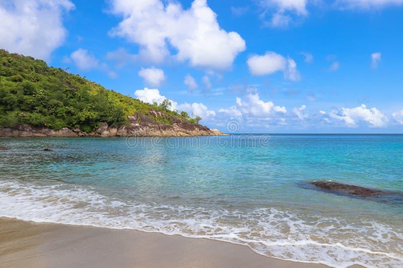 Σημαντική παραλία Anse λιμένας Σεϋχέλλες νησιών ακτών mahe Σεϋχέλλες Ινδικός Ωκεανός Ανατολή AF στοκ εικόνες