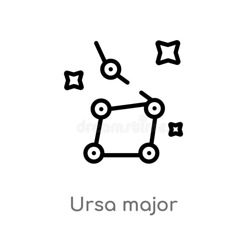 σημαντικό διανυσματικό εικονίδιο ursa περιλήψεων απομονωμένη μαύρη απλή απεικόνιση στοιχείων γραμμών από την έννοια αστρονομίας r ελεύθερη απεικόνιση δικαιώματος