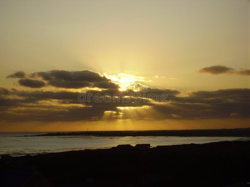 Σημαντικό ηλιοβασίλεμα στοκ εικόνα