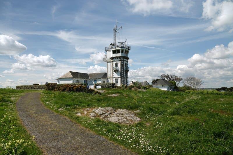 Σηματοφόρος Rosedo στο νησί Ile de brehat στη Βρετάνη στοκ εικόνες