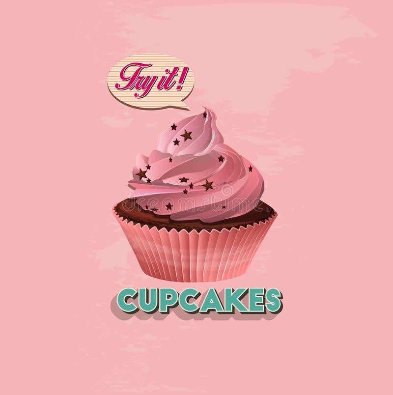 σημαδεύει cupcake διανυσματική απεικόνιση