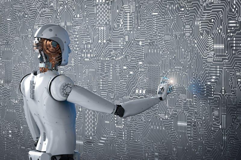 Σημείο δάχτυλων ρομπότ στοκ φωτογραφία με δικαίωμα ελεύθερης χρήσης