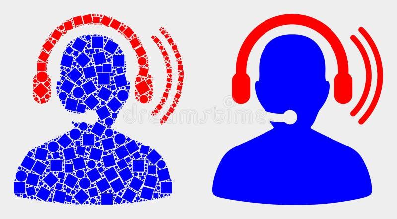 Σημείο και επίπεδο διανυσματικό ραδιο εικονίδιο κασκών χειριστών διανυσματική απεικόνιση