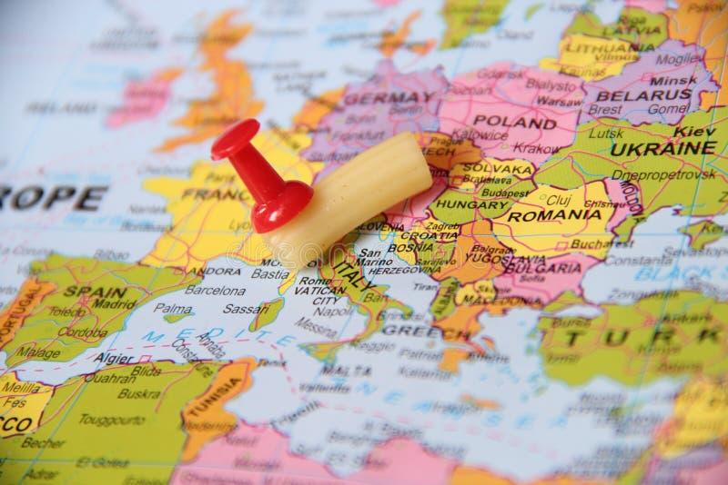 Σημείο καρφιτσών ζυμαρικών στην Ιταλία στοκ φωτογραφία με δικαίωμα ελεύθερης χρήσης