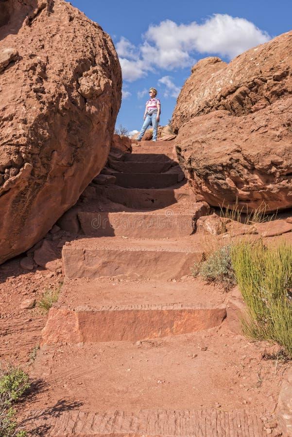 Σημείο πεζοπορίας Grandview σε Canyonlands στοκ εικόνες