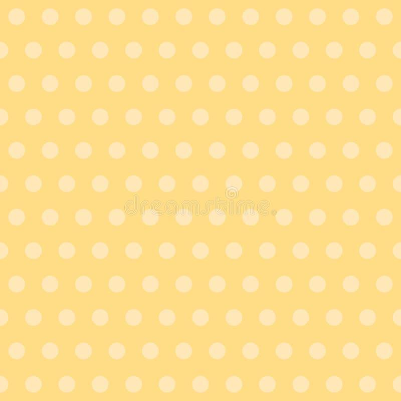 Σημείο Πόλκα κίτρινο υπόβαθρο μωρών E κλασικό απλό επαναλαμβανόμενο υπόβαθρο υφαντικό χρώμα swatch υφάσματος ελεύθερη απεικόνιση δικαιώματος