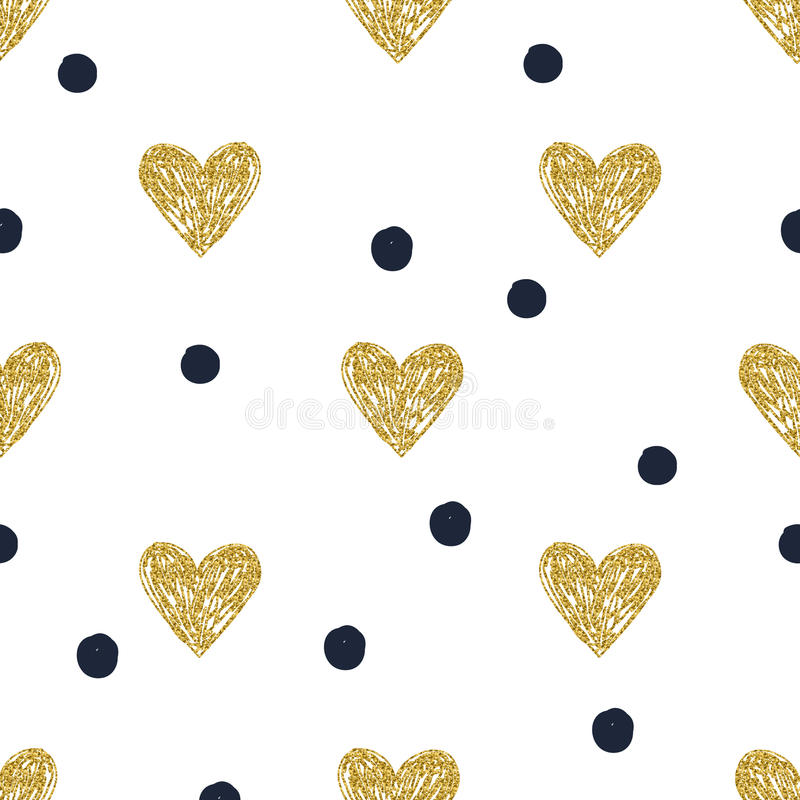 Σημείο Πόλκα καρδιών σχεδίων απεικόνιση αποθεμάτων