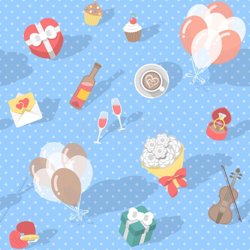 Σημείο Πόλκα σχεδίων αγάπης απεικόνιση αποθεμάτων