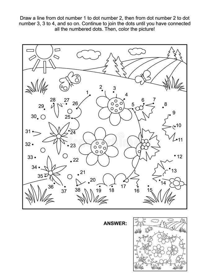 Σημείο--σημείο και χρωματίζοντας σελίδα με 3 αυγά Πάσχας διανυσματική απεικόνιση