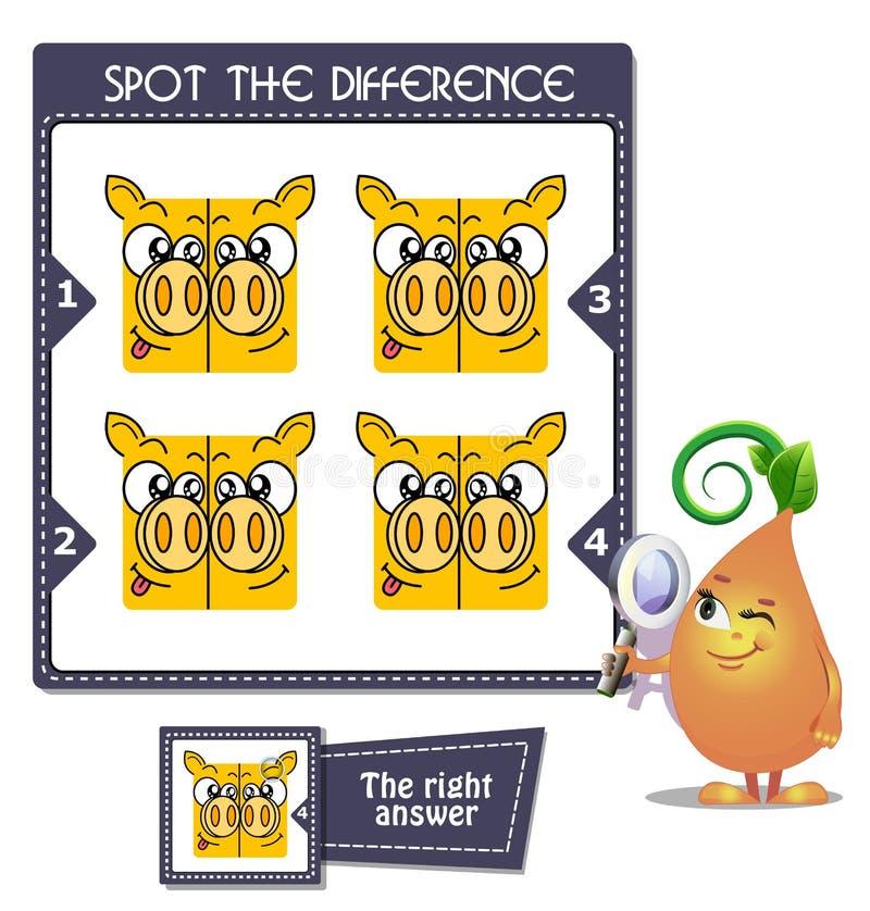 Σημείο τα δίδυμα διαφοράς διανυσματική απεικόνιση