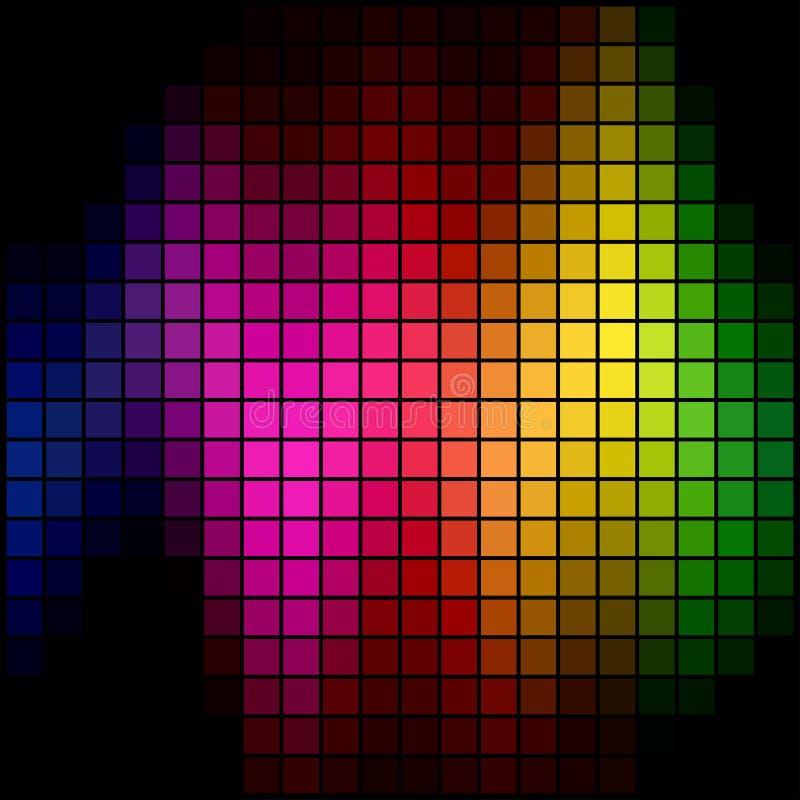 σημείο φάσματος μωσαϊκών διανυσματική απεικόνιση