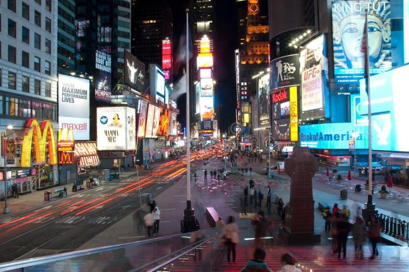 Σημείο χρονικών τετραγωνικό τουριστών στοκ εικόνες με δικαίωμα ελεύθερης χρήσης