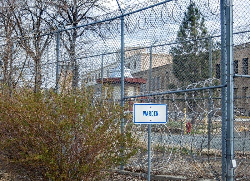 Σημείο χώρων στάθμευσης φυλάκων, ιστορική κρατική φυλακή της Νεβάδας, πόλη του Carson στοκ εικόνα με δικαίωμα ελεύθερης χρήσης