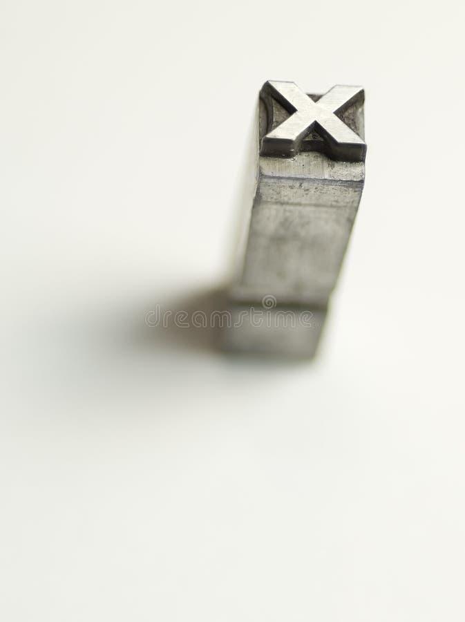 σημείο Χ σημαδιών στοκ φωτογραφία με δικαίωμα ελεύθερης χρήσης