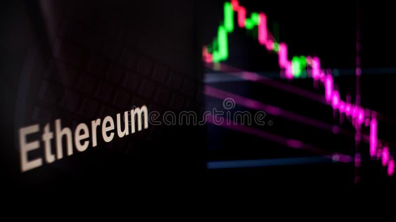 Σημείο Cryptocurrency Ethereum Η συμπεριφορά των ανταλλαγών cryptocurrency, έννοια Σύγχρονες οικονομικές τεχνολογίες ελεύθερη απεικόνιση δικαιώματος