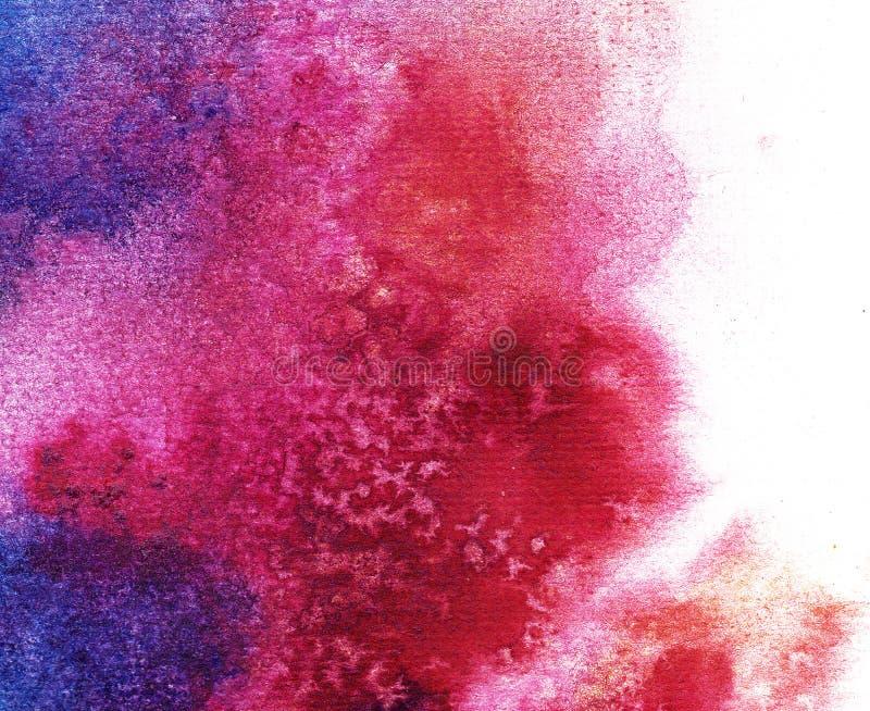 Σημείο Watercolor σε ένα άσπρο υπόβαθρο Αφηρημένο χρωματισμένο χέρι υπόβαθρο watercolor απεικόνιση αποθεμάτων