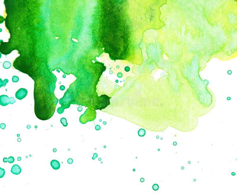 Σημείο Watercolor σε ένα άσπρο υπόβαθρο Αφηρημένο χρωματισμένο χέρι υπόβαθρο watercolor ελεύθερη απεικόνιση δικαιώματος