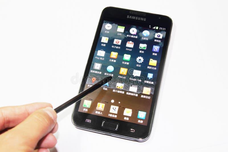 Σημείωση γαλαξιών της Samsung στοκ φωτογραφία με δικαίωμα ελεύθερης χρήσης