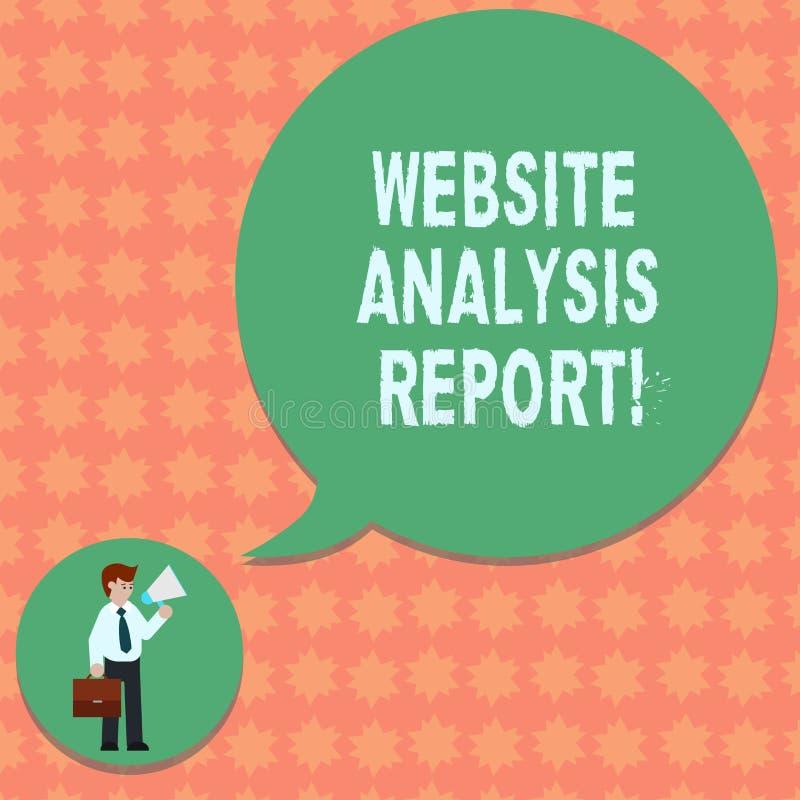 Σημείωση γραψίματος που παρουσιάζει έκθεση ανάλυσης ιστοχώρου Διαδικασία επίδειξης επιχειρησιακών φωτογραφιών τη συμπεριφορά του  απεικόνιση αποθεμάτων