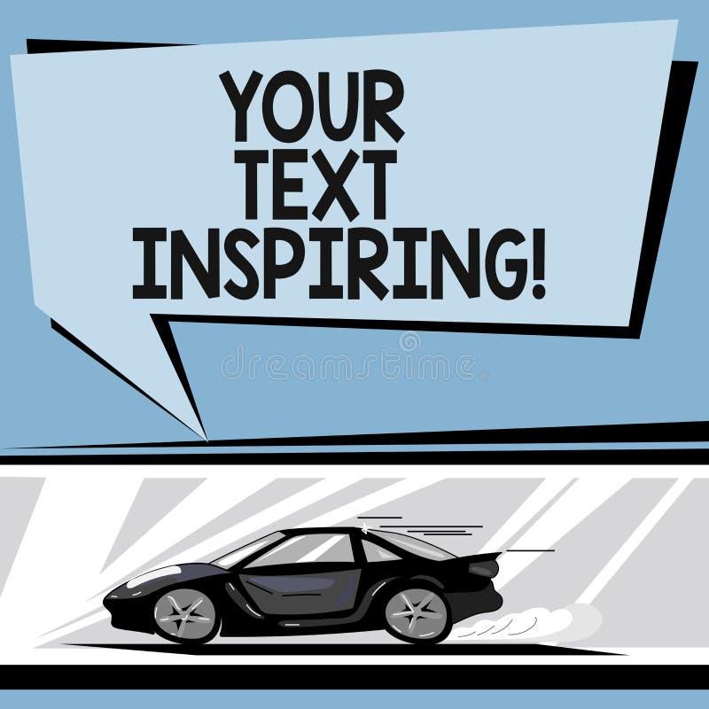 Σημείωση γραψίματος που παρουσιάζει έμπνευση κειμένων σας Οι λέξεις επίδειξης επιχειρησιακών φωτογραφιών σας κάνουν τη διέγερση α απεικόνιση αποθεμάτων