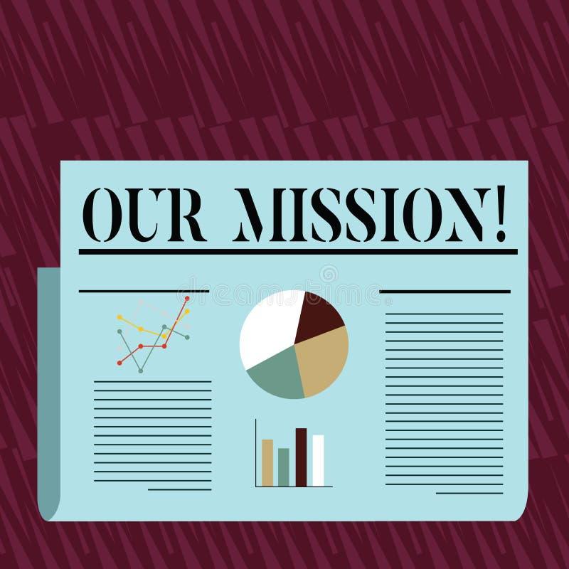 Σημείωση γραψίματος που παρουσιάζει αποστολή μας Η επίδειξη επιχειρησιακών φωτογραφιών χρησιμεύει ως ο σαφής οδηγός για την επιλο ελεύθερη απεικόνιση δικαιώματος