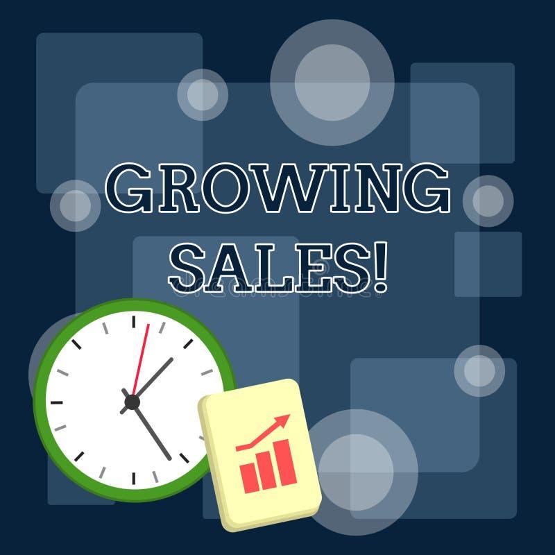 Σημείωση γραψίματος που παρουσιάζει αυξανόμενες πωλήσεις Η επιχειρησιακή φωτογραφία που επιδεικνύει το μέσο όγκο πωλήσεων μιας επ απεικόνιση αποθεμάτων