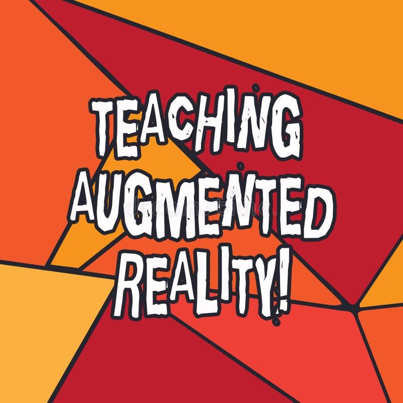 Σημείωση γραψίματος που παρουσιάζει αυξημένη διδασκαλία πραγματικότητα Επιχειρησιακή φωτογραφία που επιδεικνύει τη χρήση του AR a απεικόνιση αποθεμάτων