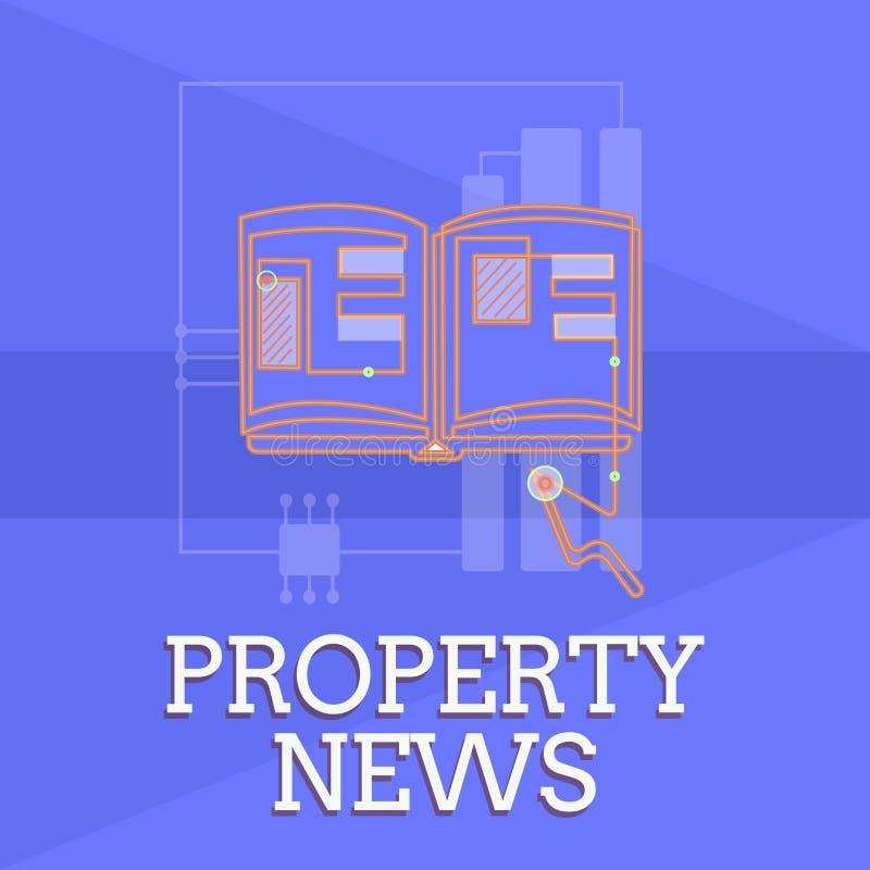 Σημείωση γραψίματος που παρουσιάζει ειδήσεις ιδιοκτησίας Η επίδειξη επιχειρησιακών φωτογραφιών περιλαμβάνει την πώληση και τη μίσ ελεύθερη απεικόνιση δικαιώματος