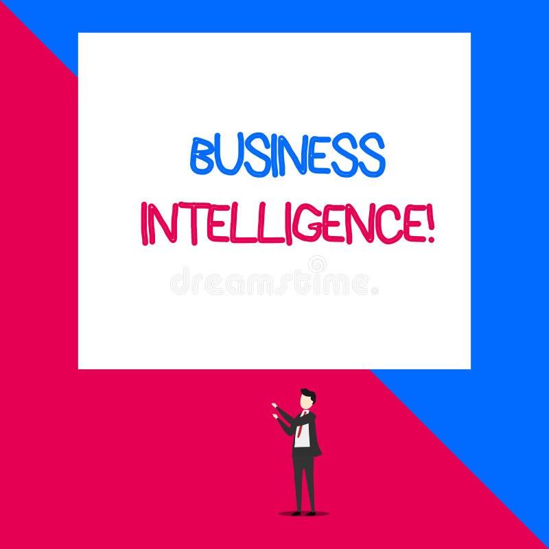Σημείωση γραψίματος που παρουσιάζει επιχειρηματική κατασκοπεία Καλύτερη πρακτική επίδειξης επιχειρησιακών φωτογραφιών των πληροφο διανυσματική απεικόνιση