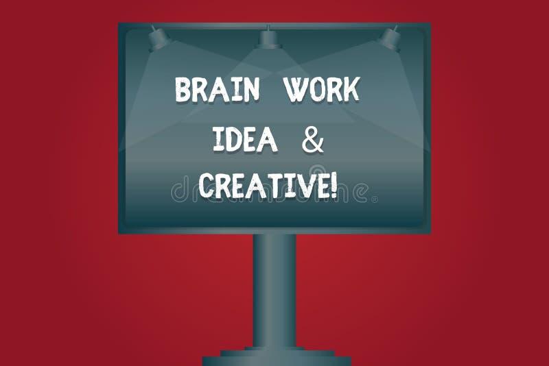 Σημείωση γραψίματος που παρουσιάζει ιδέα εργασίας εγκεφάλου και δημιουργικός Καινοτόμος σκέψη καταιγισμού ιδεών δημιουργικότητας  ελεύθερη απεικόνιση δικαιώματος