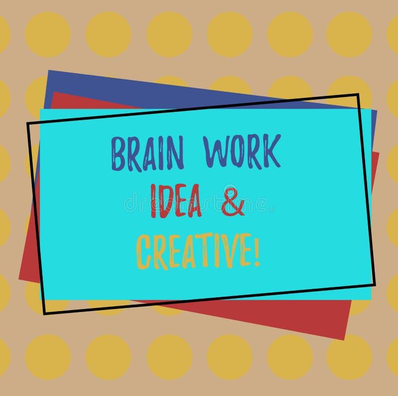 Σημείωση γραψίματος που παρουσιάζει ιδέα εργασίας εγκεφάλου και δημιουργικός Καινοτόμος σκέψη καταιγισμού ιδεών δημιουργικότητας  απεικόνιση αποθεμάτων