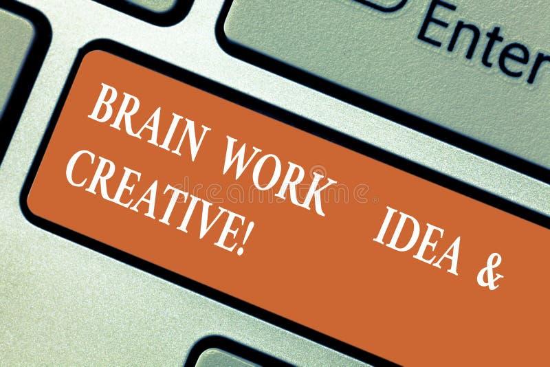 Σημείωση γραψίματος που παρουσιάζει ιδέα εργασίας εγκεφάλου και δημιουργικός Καινοτόμος σκέψη καταιγισμού ιδεών δημιουργικότητας  στοκ φωτογραφία με δικαίωμα ελεύθερης χρήσης