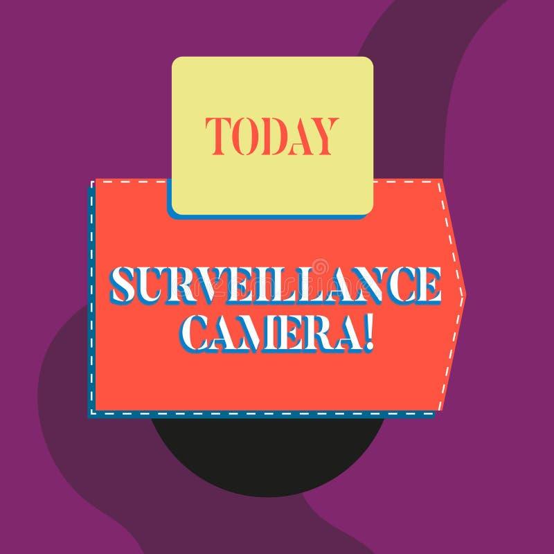 Σημείωση γραψίματος που παρουσιάζει κάμερα παρακολούθησης Η τηλεόραση κλειστού κυκλώματος επίδειξης επιχειρησιακών φωτογραφιών δι διανυσματική απεικόνιση
