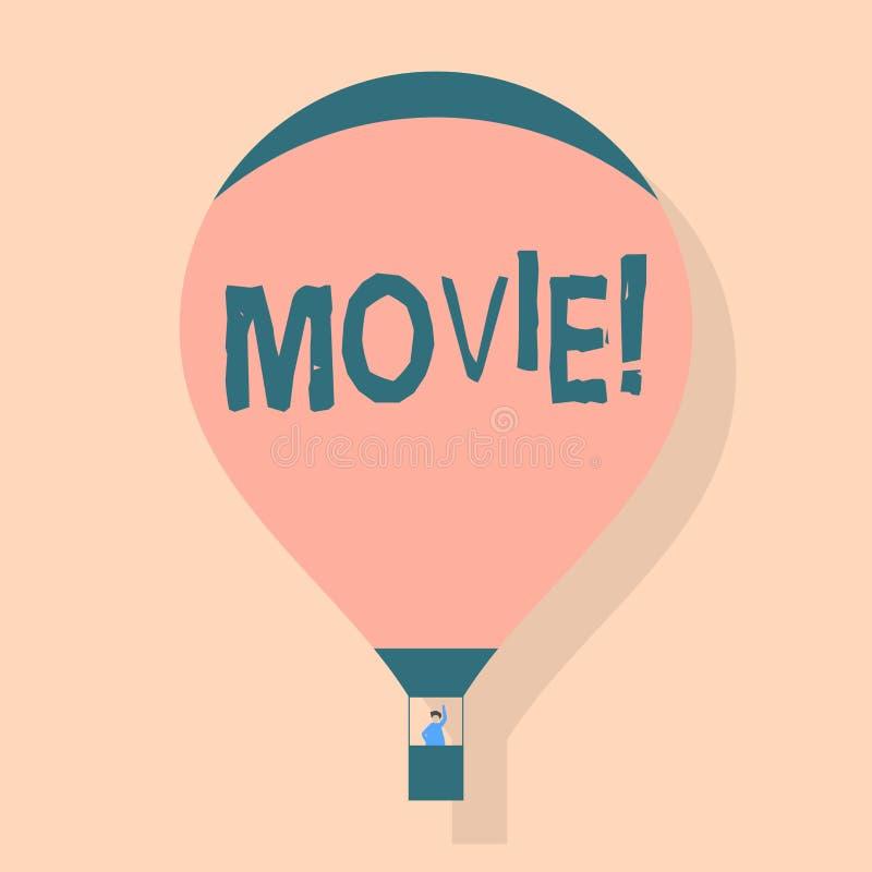 Σημείωση γραψίματος που παρουσιάζει κινηματογράφο Κινηματογράφος επίδειξης επιχειρησιακών φωτογραφιών ή κινηματογραφική ταινία τη απεικόνιση αποθεμάτων