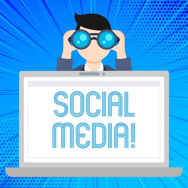 Σημείωση γραψίματος που παρουσιάζει κοινωνικό MEDIA Οι ιστοχώροι και οι εφαρμογές επίδειξης επιχειρησιακών φωτογραφιών επιτρέπουν διανυσματική απεικόνιση