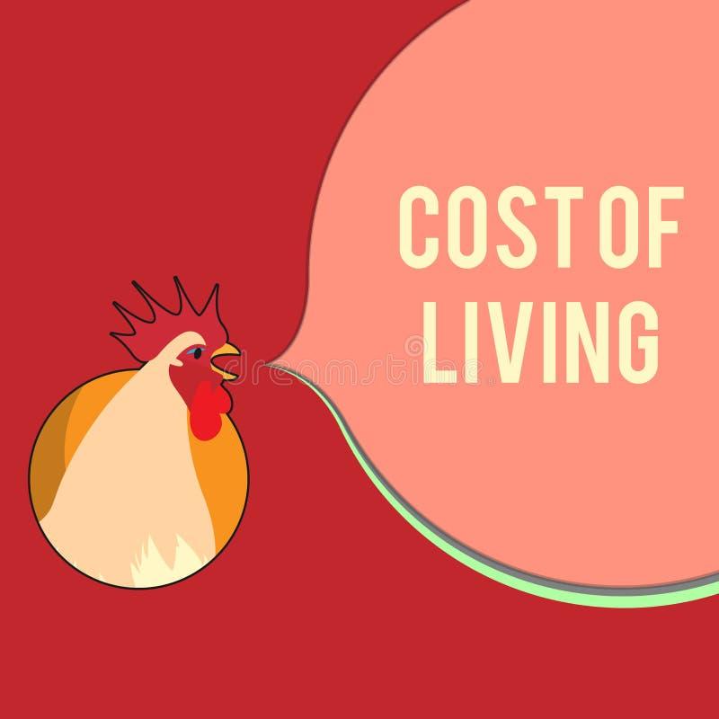 Σημείωση γραψίματος που παρουσιάζει κόστος ζωής Επιχειρησιακή φωτογραφία που επιδεικνύει το επίπεδο τιμών σχετικά με μια σειρά τω διανυσματική απεικόνιση