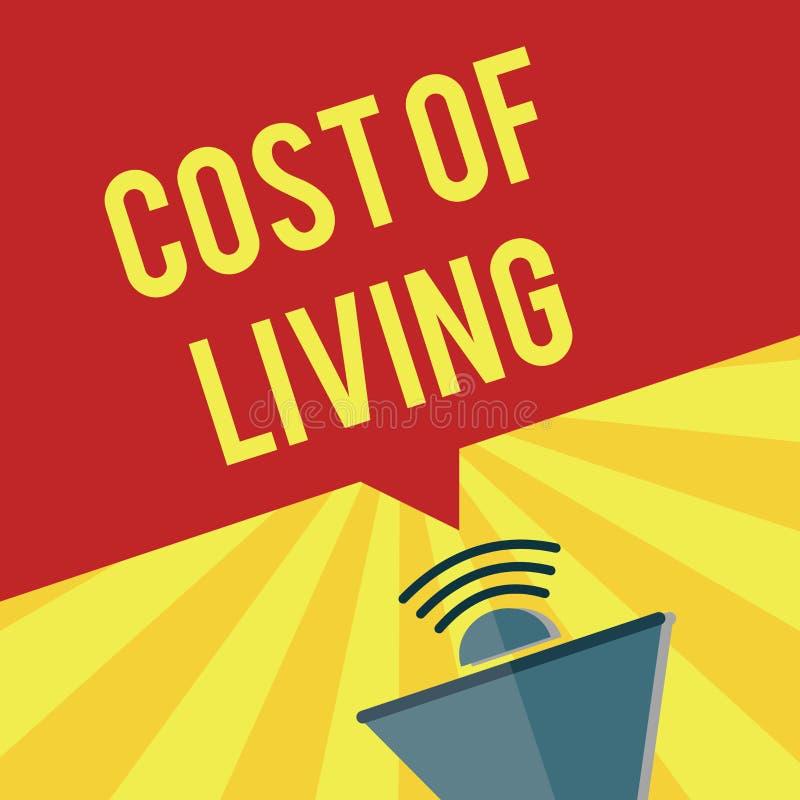 Σημείωση γραψίματος που παρουσιάζει κόστος ζωής Επιχειρησιακή φωτογραφία που επιδεικνύει το επίπεδο τιμών σχετικά με μια σειρά τω απεικόνιση αποθεμάτων