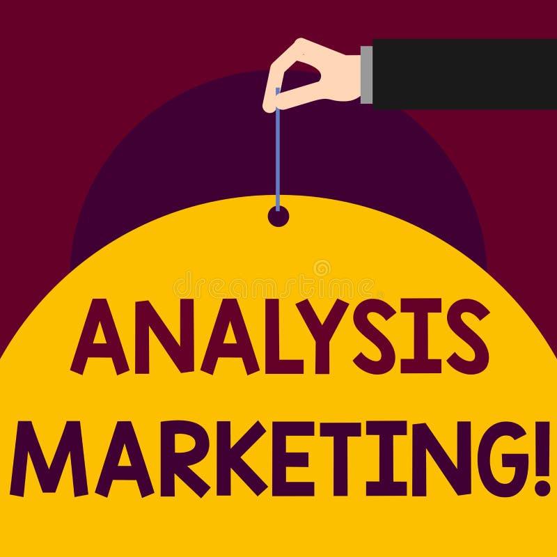 Σημείωση γραψίματος που παρουσιάζει μάρκετινγκ ανάλυσης Επιχειρησιακή φωτογραφία που επιδεικνύει την ποσοτική και ποιοτική αξιολό διανυσματική απεικόνιση