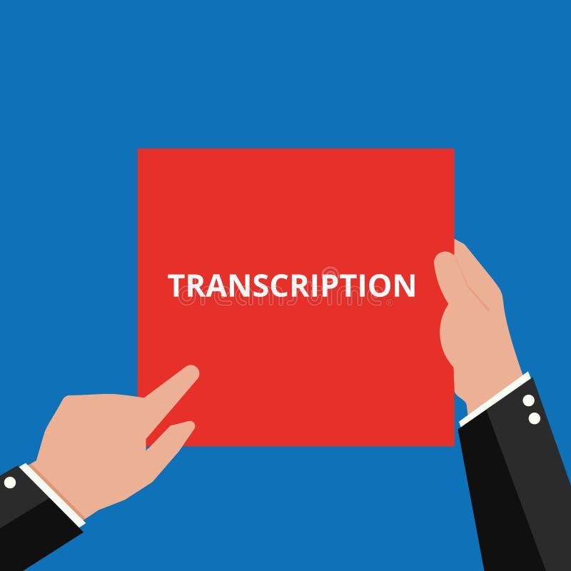 Σημείωση γραψίματος που παρουσιάζει μεταγραφή διανυσματική απεικόνιση