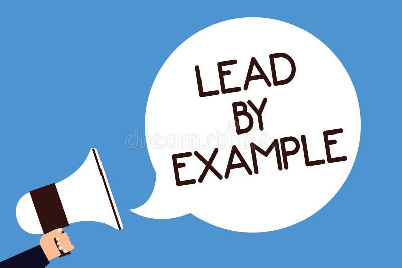 Σημείωση γραψίματος που παρουσιάζει μόλυβδο από το παράδειγμα Η επίδειξη επιχειρησιακών φωτογραφιών είναι ηγέτης συμβούλων ακολου απεικόνιση αποθεμάτων